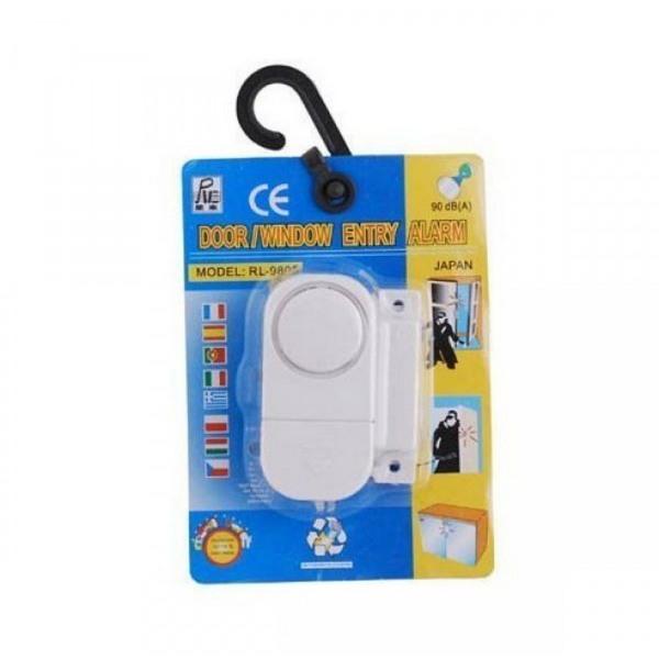 Doorwindow Entry Alarm 90db White Nationsearth
